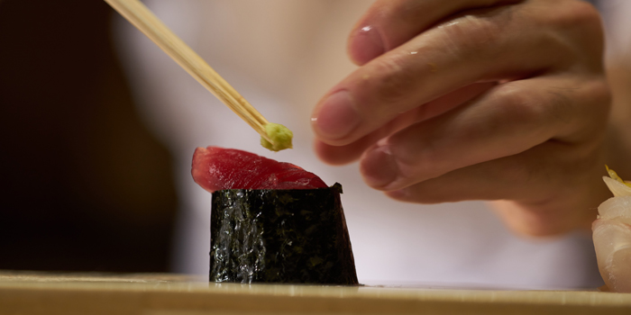 Gunkan Sushi from Sushi Zo at Athenee Tower, Bangkok