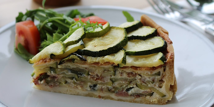 Zucchini Bacon Quiche from House of AnLi Bistro at Tanglin Mall in Tanglin, Singapore