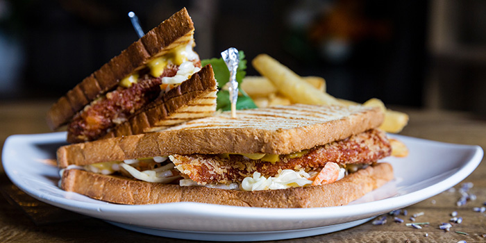 Chicken Schnitzel Sandwich from Knots Cafe and Living at Orion@PayaLebar in Paya Lebar, Singapore