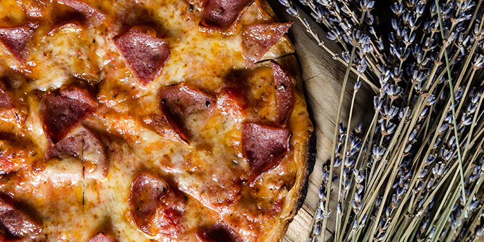 Pepperoni Pizza from Knots Cafe and Living at Orion@PayaLebar in Paya Lebar, Singapore
