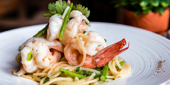 Prawn Pasta from Knots Cafe and Living at Orion@PayaLebar in Paya Lebar, Singapore