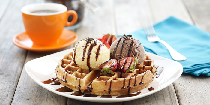 Waffle with Ice Cream from O