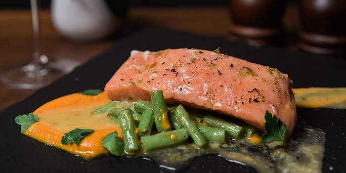 Poached Salmon from Napoleon Food & Wine Bar at Telok Ayer in Raffles Place, Singapore