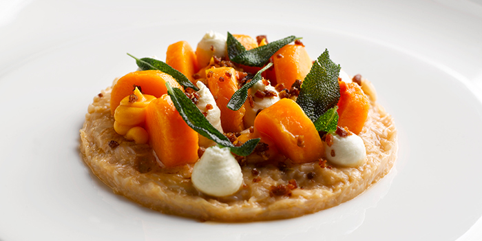 Crab, Butternut Squash, Pancetta and Sage Ricotta from Pollen at Gardens by the Bay in Marina Bay, Singapore