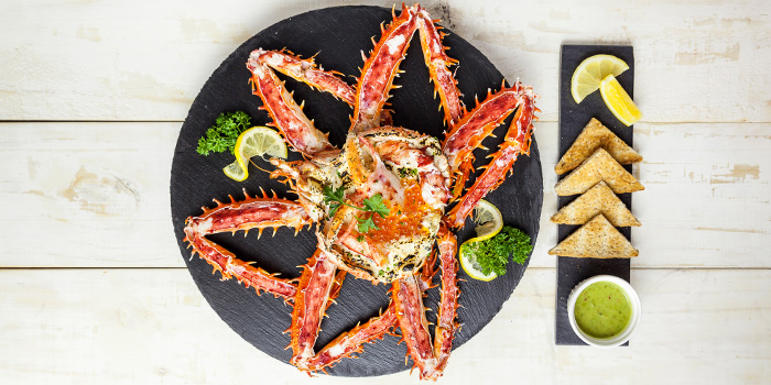 Red King Crab Au Gratin from The Dock at The Maze Thonglor, Bangkok