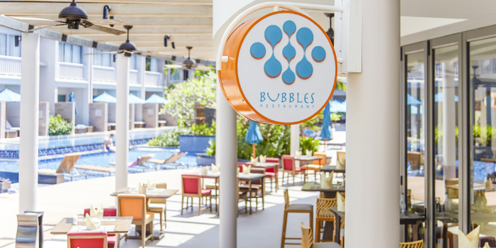 Restaurant Ambiance of Bubbles Restaurant in Patong, Phuket, Thailand.