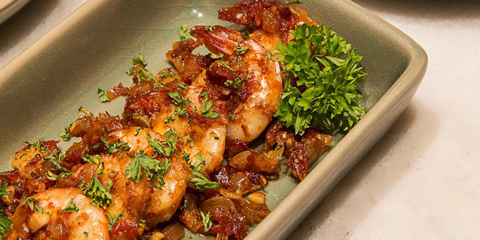 Shrimp And Bacon from Le Cafe Des Stagiaires in Sathorn Soi 12, Bangkok