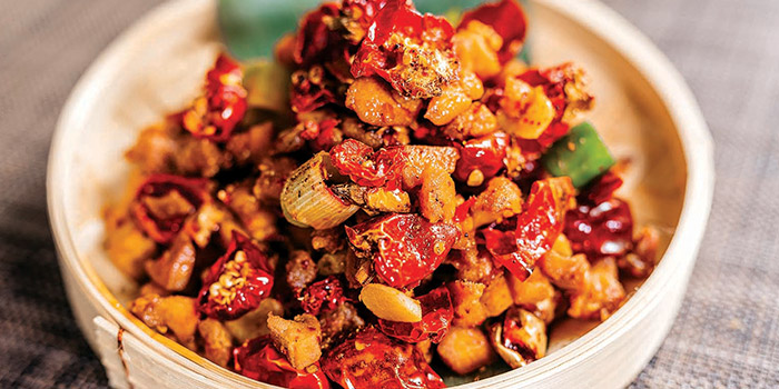 Tradition Sichuan Spicy Diced Chicken from Silk Road Restaurant at Amara Hotel in Tanjong Pagar, Singapore