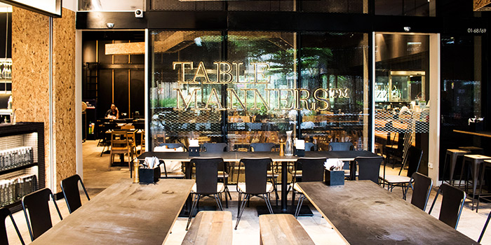 Entrance of Table Manners (Changi City Point) in Changi, Singapore
