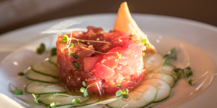 Tuna Poke from Catch Beach Club in Bangtao Beach, Cherngtalay, Phuket, Thailand.
