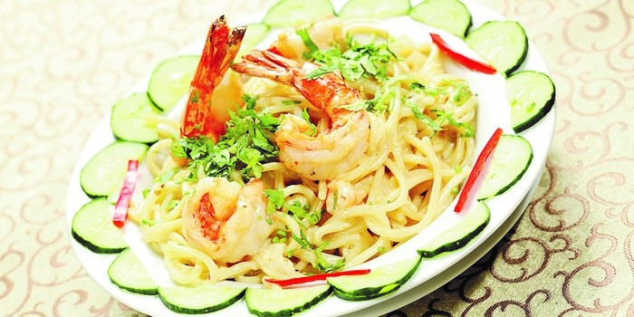 Spaghetti Carbonara Seafood at Al Jazeerah Polonia
