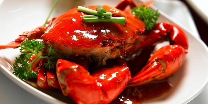 Kepiting Saos at Jun Njan Mall of Indonesia