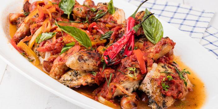 "Whole Roasted Chicken ""Scarpiella"" Family Style, Amaroni"