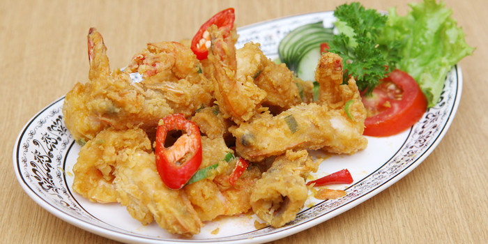 Salted Egg Prawn at Batik Kuring