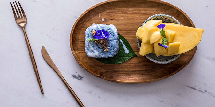 Blue Mango Sticky Rice from Blue Jasmine at Park Hotel Farrer Park in Little India, Singapore.