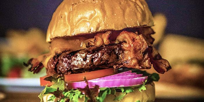 Burger from Brewerkz Indoor Stadium at Kallang, Singapore