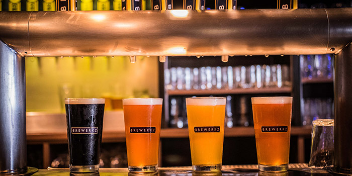 Craft Beer from Brewerkz Riverside Point in Clarke Quay, Singapore