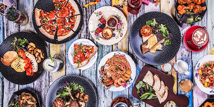 Food Spread from Brunches Cafe in Little India, Singapore