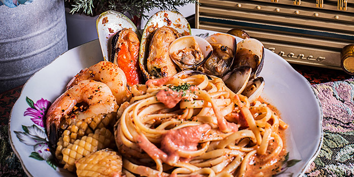 Frutti Di Mare Pasta from Brunches Cafe in Little India, Singapore