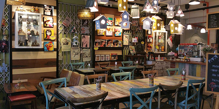 Interior of Brunches Cafe in Little India, Singapore