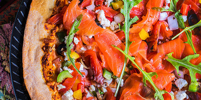 Salmon Pizza from Brunches Cafe in Little India, Singapore