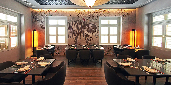 Private Dining Room of Coriander Leaf at CHIJMES in City Hall, Singapore