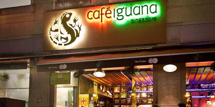Exterior of Cafe Iguana in Clarke Quay, Singapore