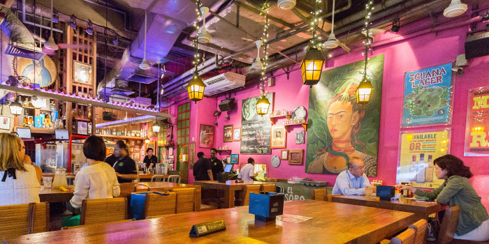 Interior of Cafe Iguana in Clarke Quay, Singapore