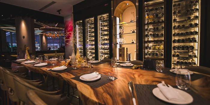 Dining Table from Riedel Wine Bar & Cellar at Gaysorn Village, Bangkok