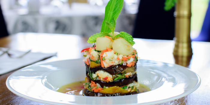 Doikham Eggplant Salad from Blue Elephant Phuket, Talad Neua, Muang, Phuket, Thailand