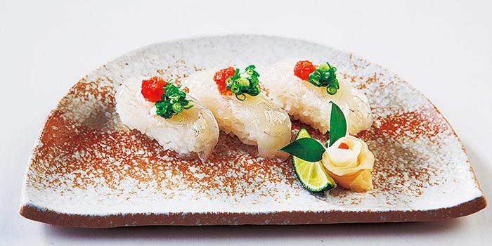 Fugu Sushi from Guenpin Fugu & Snow Crab Restaurant at Maxwell Chambers in Tanjong Pagar, Singapore