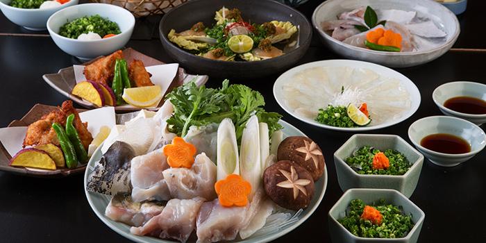 Tenraku Course from Guenpin Fugu & Snow Crab Restaurant at Maxwell Chambers in Tanjong Pagar, Singapore