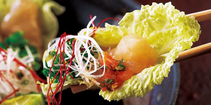 Thick Sliced Puffer Fish Sashimi from Guenpin Fugu & Snow Crab Restaurant at Maxwell Chambers in Tanjong Pagar, Singapore