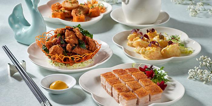 Food Spread from Jade at Fullerton Hotel in Fullerton, Singapore