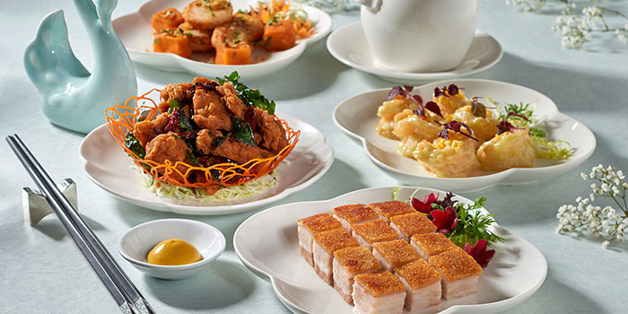Food Spread from Jade at Fullerton Hotel in Fullerton, Singapore