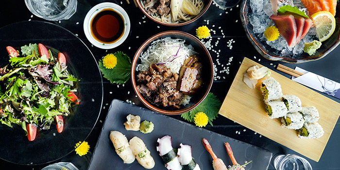 Bottomless Brunch Spread from Kinki Restaurant + Bar in Collyer Quay, Singapore