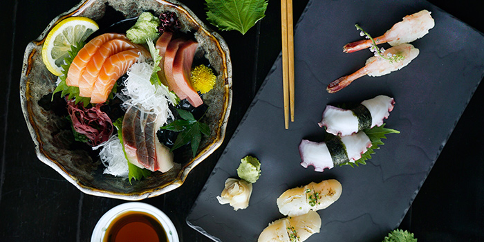 Sushi & Sashimi Selection from Kinki Restaurant + Bar in Collyer Quay, Singapore