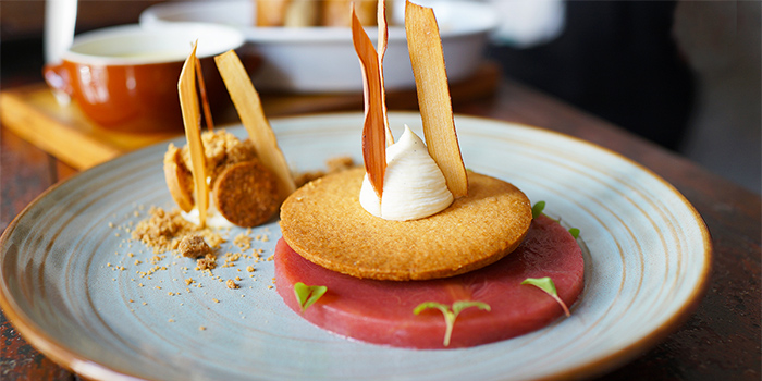 Rhubarb from Le Bistrot Du Sommelier in City Hall, Singapore