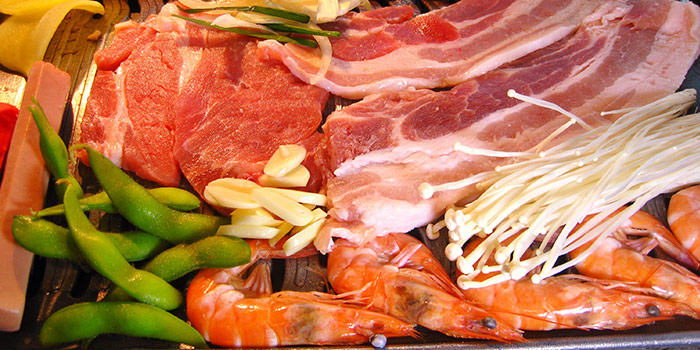 Food Selection from OPPA Korean BBQ Buffet (Jurong East-JCube) in Jurong, Singapore
