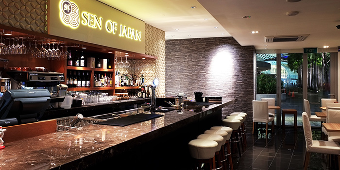 Bar Counter of Sen of Japan at Marina Bay Sands in Marina Bay, Singapore