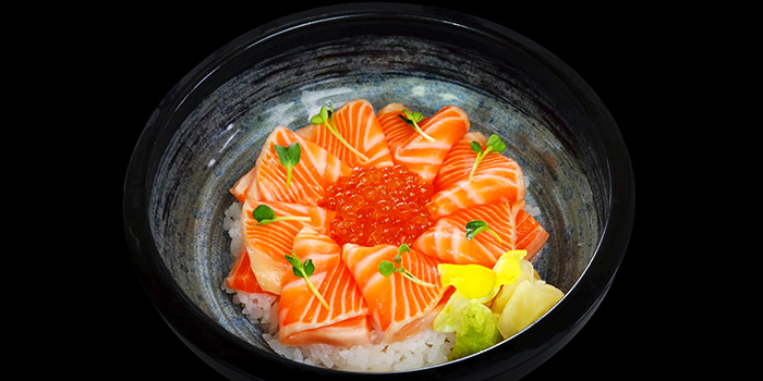 Salmon Ikura Don from Sen of Japan at Marina Bay Sands in Marina Bay, Singapore