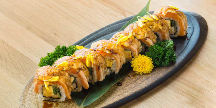 Salmon Engawa Roll from MAGURO Sushi - INT Intersect, Rama 3 in Rama 3 Road, Bangkok