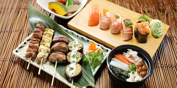 Salmon Sushi Delights & Kushiyaki Gozen from Shin Kushiya at VivoCity in Harbourfront, Singapore