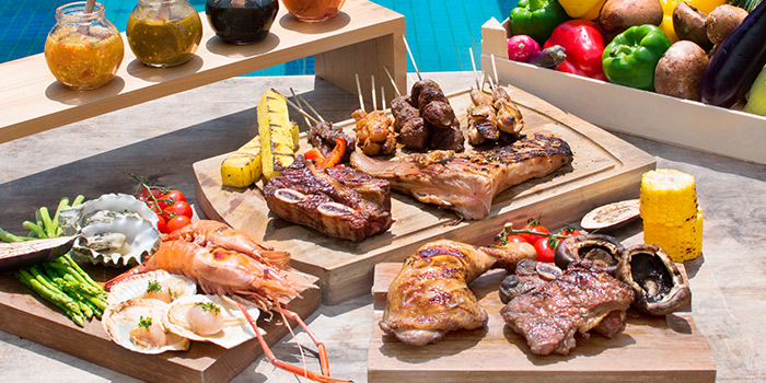 BBQ Seafood Spread from Saltwater Cafe in Changi Village Hotel in Changi, Singapore