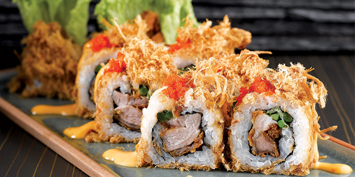 Chicken Floss Maki from Shin Kushiya at VivoCity in Harbourfront, Singapore