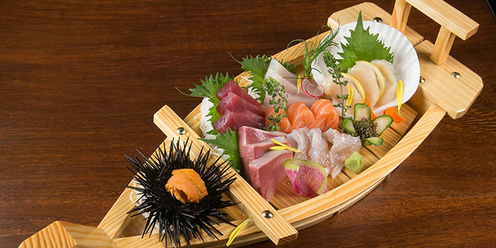 7 Kinds of Sashimi from Tsukiji Fish Market Restaurant at Orchard Central in Orchard, Singapore