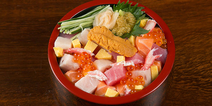 Bara Chirashi Don from Tsukiji Fish Market Restaurant at Orchard Central in Orchard, Singapore