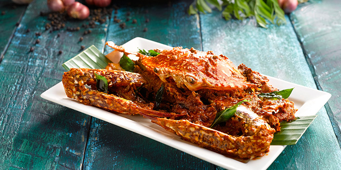 Dry Chettinad Pepper Crab from Pavilion Banana Leaf at Jurong Point Shopping Mall in Jurong, Singapore