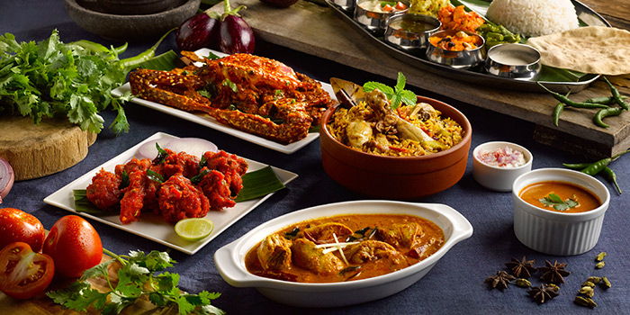 Food Spread from Pavilion Banana Leaf at Jurong Point Shopping Mall in Jurong, Singapore