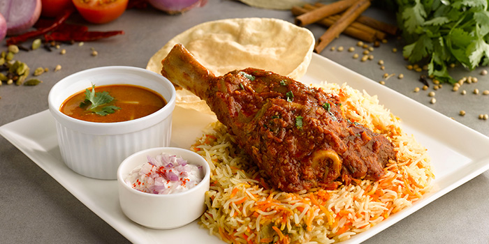 Lamb Shank Biryani from Pavilion Banana Leaf at Jurong Point Shopping Mall in Jurong, Singapore